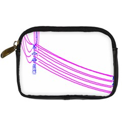 Electricty Power Pole Blue Pink Digital Camera Cases