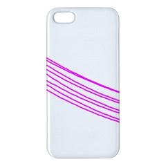 Electricty Power Pole Blue Pink Apple Iphone 5 Premium Hardshell Case