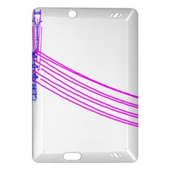 Electricty Power Pole Blue Pink Amazon Kindle Fire Hd (2013) Hardshell Case