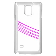 Electricty Power Pole Blue Pink Samsung Galaxy Note 4 Case (white)