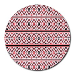 Clipart Embroidery Star Red Line Black Round Mousepads