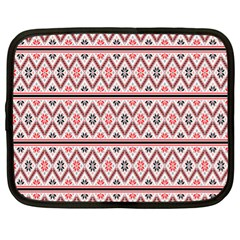 Clipart Embroidery Star Red Line Black Netbook Case (xl)