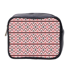 Clipart Embroidery Star Red Line Black Mini Toiletries Bag 2 Side