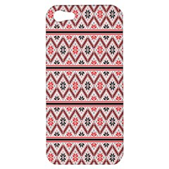 Clipart Embroidery Star Red Line Black Apple Iphone 5 Hardshell Case