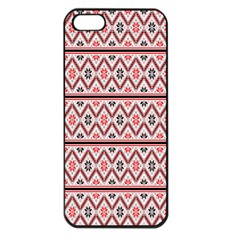 Clipart Embroidery Star Red Line Black Apple Iphone 5 Seamless Case (black)
