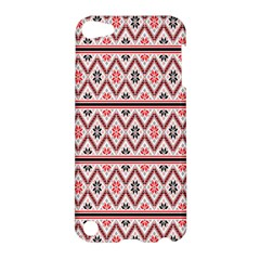 Clipart Embroidery Star Red Line Black Apple Ipod Touch 5 Hardshell Case