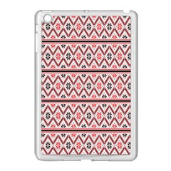 Clipart Embroidery Star Red Line Black Apple Ipad Mini Case (white)