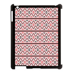 Clipart Embroidery Star Red Line Black Apple Ipad 3/4 Case (black)
