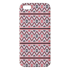 Clipart Embroidery Star Red Line Black Apple Iphone 5 Premium Hardshell Case