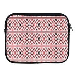 Clipart Embroidery Star Red Line Black Apple Ipad 2/3/4 Zipper Cases