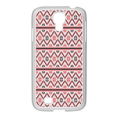 Clipart Embroidery Star Red Line Black Samsung Galaxy S4 I9500/ I9505 Case (white)