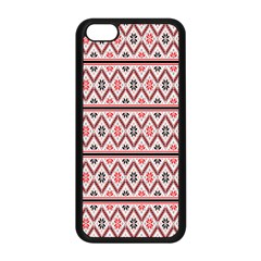 Clipart Embroidery Star Red Line Black Apple Iphone 5c Seamless Case (black)