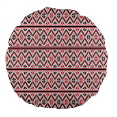 Clipart Embroidery Star Red Line Black Large 18  Premium Flano Round Cushions