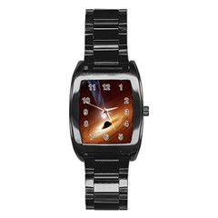 Coming Supermassive Black Hole Century Stainless Steel Barrel Watch