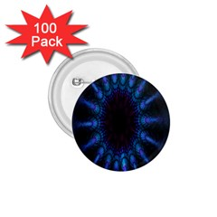 Exploding Flower Tunnel Nature Amazing Beauty Animation Blue Purple 1 75  Buttons (100 Pack)