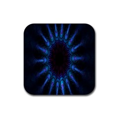 Exploding Flower Tunnel Nature Amazing Beauty Animation Blue Purple Rubber Coaster (square)
