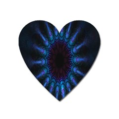 Exploding Flower Tunnel Nature Amazing Beauty Animation Blue Purple Heart Magnet