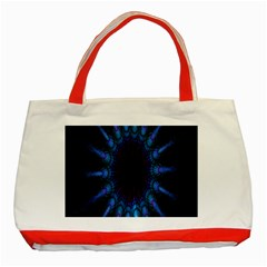 Exploding Flower Tunnel Nature Amazing Beauty Animation Blue Purple Classic Tote Bag (red)