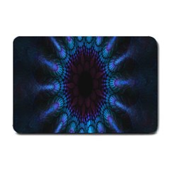 Exploding Flower Tunnel Nature Amazing Beauty Animation Blue Purple Small Doormat