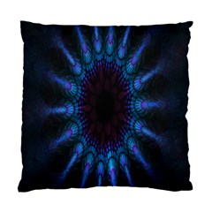 Exploding Flower Tunnel Nature Amazing Beauty Animation Blue Purple Standard Cushion Case (two Sides)