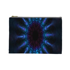 Exploding Flower Tunnel Nature Amazing Beauty Animation Blue Purple Cosmetic Bag (large)