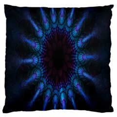 Exploding Flower Tunnel Nature Amazing Beauty Animation Blue Purple Large Cushion Case (one Side)