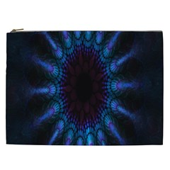 Exploding Flower Tunnel Nature Amazing Beauty Animation Blue Purple Cosmetic Bag (xxl)