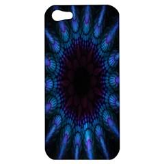 Exploding Flower Tunnel Nature Amazing Beauty Animation Blue Purple Apple Iphone 5 Hardshell Case