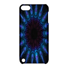 Exploding Flower Tunnel Nature Amazing Beauty Animation Blue Purple Apple Ipod Touch 5 Hardshell Case With Stand