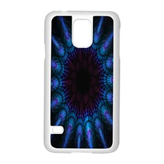 Exploding Flower Tunnel Nature Amazing Beauty Animation Blue Purple Samsung Galaxy S5 Case (white)
