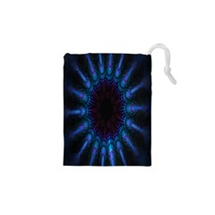 Exploding Flower Tunnel Nature Amazing Beauty Animation Blue Purple Drawstring Pouches (xs)