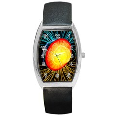 Cross Section Earth Field Lines Geomagnetic Hot Barrel Style Metal Watch