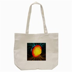 Cross Section Earth Field Lines Geomagnetic Hot Tote Bag (cream)