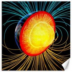 Cross Section Earth Field Lines Geomagnetic Hot Canvas 20  X 20