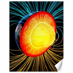 Cross Section Earth Field Lines Geomagnetic Hot Canvas 18  X 24