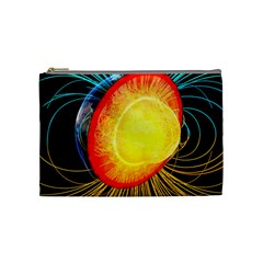 Cross Section Earth Field Lines Geomagnetic Hot Cosmetic Bag (medium)