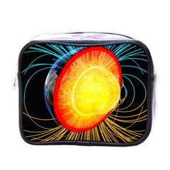 Cross Section Earth Field Lines Geomagnetic Hot Mini Toiletries Bags