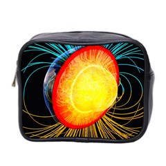 Cross Section Earth Field Lines Geomagnetic Hot Mini Toiletries Bag 2 Side