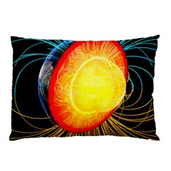 Cross Section Earth Field Lines Geomagnetic Hot Pillow Case (two Sides)