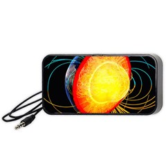 Cross Section Earth Field Lines Geomagnetic Hot Portable Speaker (black)