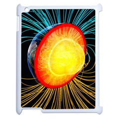 Cross Section Earth Field Lines Geomagnetic Hot Apple Ipad 2 Case (white)