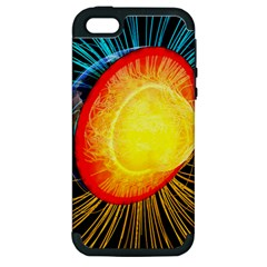 Cross Section Earth Field Lines Geomagnetic Hot Apple Iphone 5 Hardshell Case (pc+silicone)