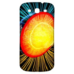 Cross Section Earth Field Lines Geomagnetic Hot Samsung Galaxy S3 S Iii Classic Hardshell Back Case