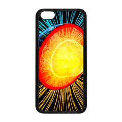 Cross Section Earth Field Lines Geomagnetic Hot Apple Iphone 5c Seamless Case (black)
