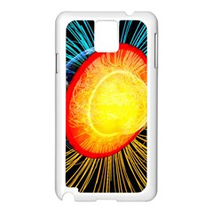 Cross Section Earth Field Lines Geomagnetic Hot Samsung Galaxy Note 3 N9005 Case (white)