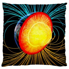 Cross Section Earth Field Lines Geomagnetic Hot Standard Flano Cushion Case (two Sides)