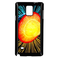 Cross Section Earth Field Lines Geomagnetic Hot Samsung Galaxy Note 4 Case (black)