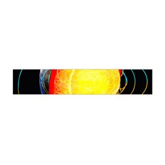 Cross Section Earth Field Lines Geomagnetic Hot Flano Scarf (mini)