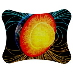Cross Section Earth Field Lines Geomagnetic Hot Jigsaw Puzzle Photo Stand (bow)