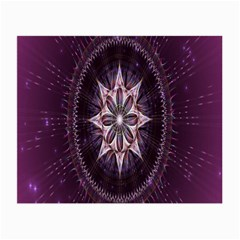 Flower Twirl Star Space Purple Small Glasses Cloth